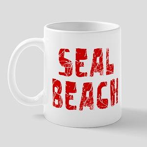 Seal Beach Faded (Red) Mug