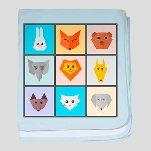 Animal Bingo baby blanket