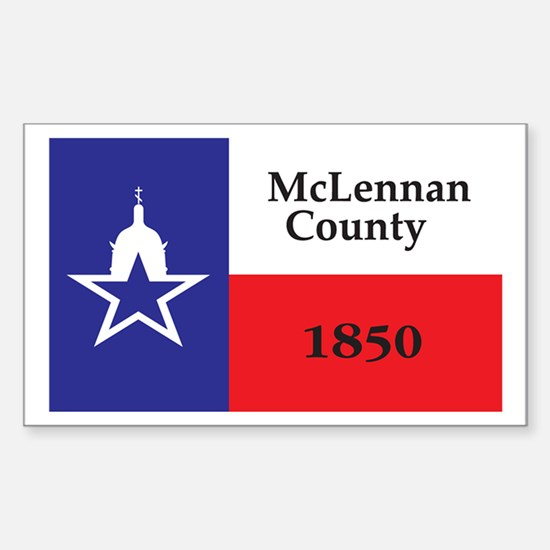 MCLENNAN-COUNTY Rectangle Decal