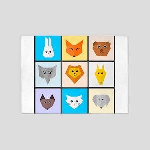 Animal Bingo 5'x7'Area Rug