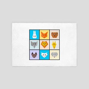 Animal Bingo 4' x 6' Rug