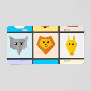 Animal Bingo Aluminum License Plate
