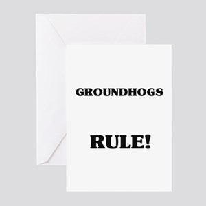 Groundhogs Rule! Greeting Cards (Pk of 10)