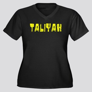Taliyah Faded (Gold) Women's Plus Size V-Neck Dark