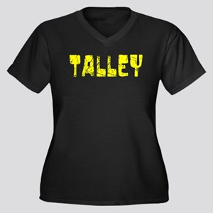 Talley Faded (Gold) Women's Plus Size V-Neck Dark