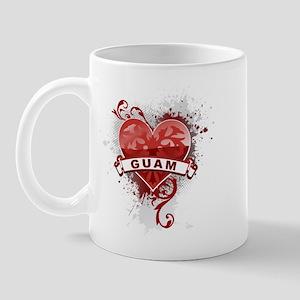 Heart Guam Mug