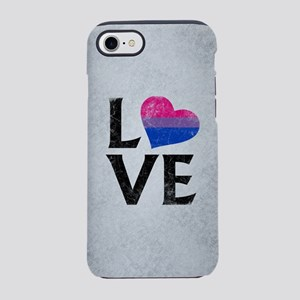 Bisexual Pride Flag Heart St iPhone 8/7 Tough Case