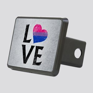 Bisexual Pride Flag Heart Rectangular Hitch Cover