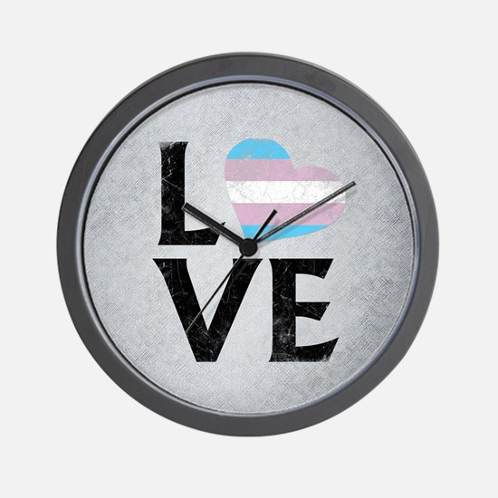 Transgender Pride Flag Stacked Heart Love Wall Clo