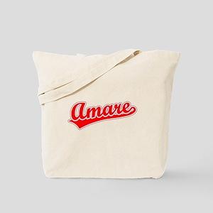 Retro Amare (Red) Tote Bag