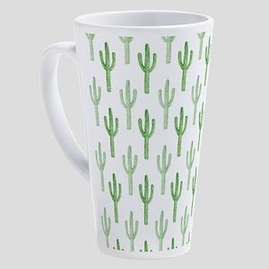 Cute Watercolor Cactus Pattern 17 oz Latte Mug