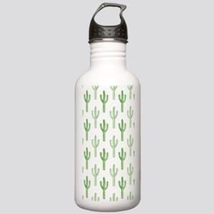 Cute Watercolor Cactus Pattern Water Bottle