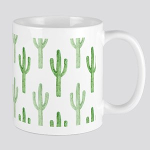 Cute Watercolor Cactus Pattern Mugs