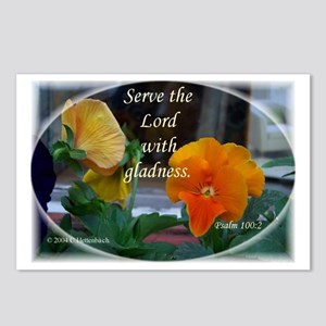 Serve the Lord Pansies Postcards (Package of 8)