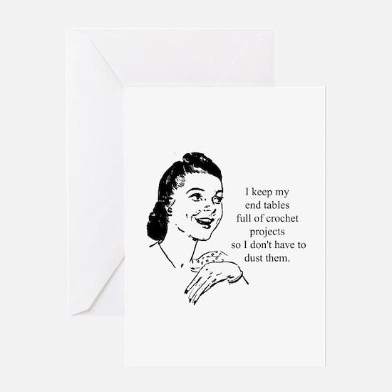 Crochet - Don't Dust Greeting Card