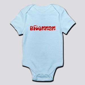 Brennan Surname Heart Design Body Suit