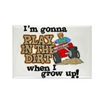 Play In The Dirt Rectangle Magnet