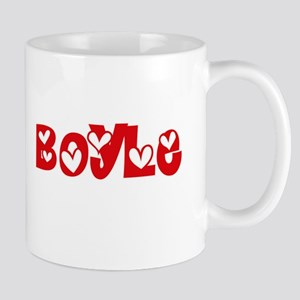 Boyle Surname Heart Design Mugs