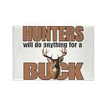 Hunters/Buck Rectangle Magnet