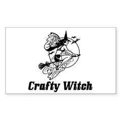 Crafty Witch Rectangle Decal