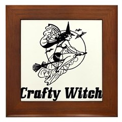 Crafty Witch Framed Tile