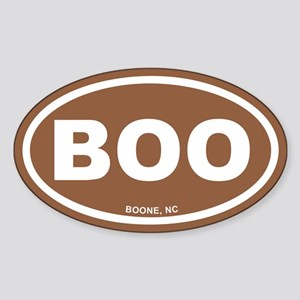 BOO Boone, NC Euro Brown Oval Sticker