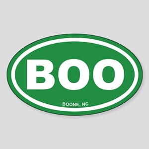 BOO Boone, NC Euro Green Oval Sticker