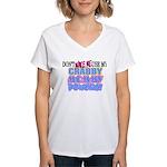 Crabby Mommy Powers Women's V-Neck T-Shirt