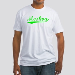 Vintage Moskva (Green) Fitted T-Shirt