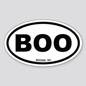 BOO Boone, NC Euro Oval Sticker