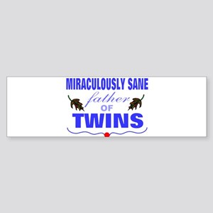 Funny father of twins Bumper Sticker