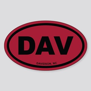 DAV Davidson, NC Euro Oval Sticker