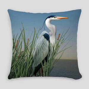Heron Watch Everyday Pillow