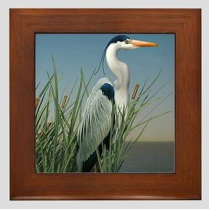 Heron Watch Framed Tile