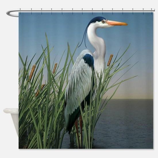 Heron Watch Shower Curtain