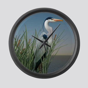 Heron Watch Large Wall Clock