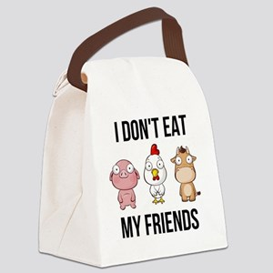 I Don't Eat My Friends - Vega Canvas Lunch Bag