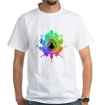 Eightfold Fractal White T-Shirt