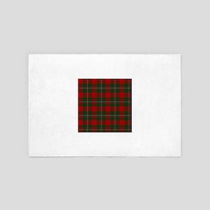 Scottish Clan MacGregor Tartan 4' x 6' Rug