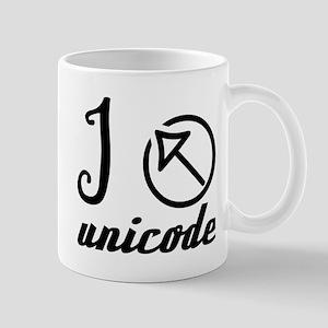 I ? unicode Mugs