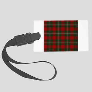 Scottish Clan MacGregor Tartan Large Luggage Tag