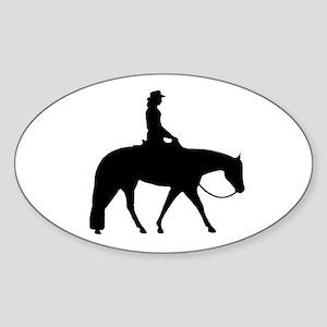Western Pleasure Female Oval Sticker