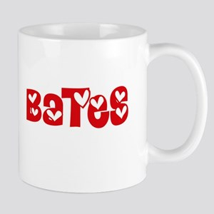 Bates Surname Heart Design Mugs