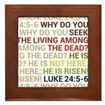 He is Risen Framed Tile