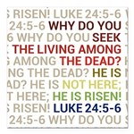 He is Risen Square Car Magnet 3