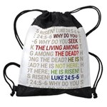 He is Risen Drawstring Bag