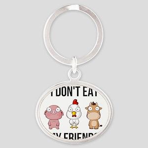 I Don't Eat My Friends - Vegan / Veg Keychains