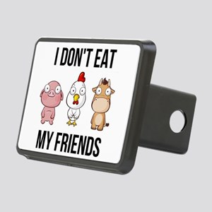 I Don't Eat My Friends Rectangular Hitch Cover