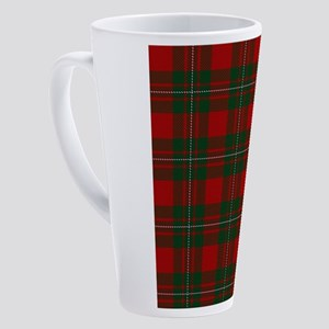 Scottish Clan MacGregor Tartan 17 oz Latte Mug