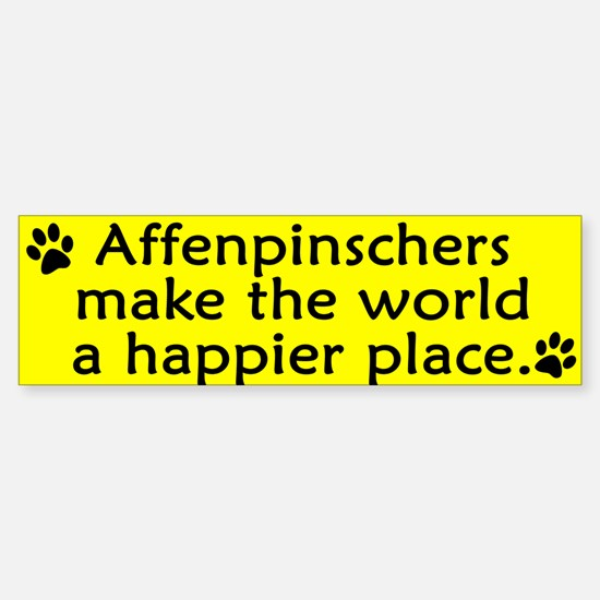 Happy Place Affenpinscher Bumper Bumper Bumper Sticker
